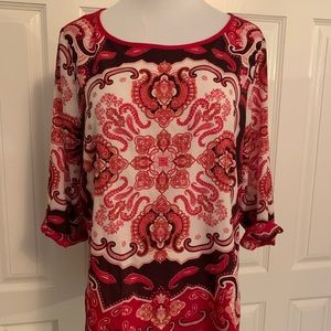Mexx Red Paisley Tunic Blouse